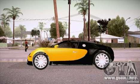 Bugatti Veyron 16.4 EB 2006 para GTA San Andreas left