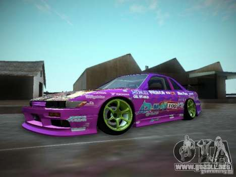 Nissan Silvia S13 Team Burst para GTA San Andreas left