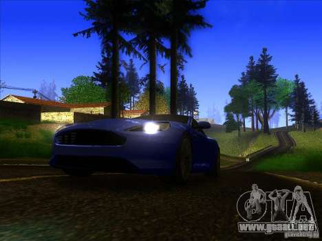 Aston Martin Virage 2011 Final para GTA San Andreas left