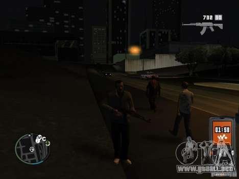 HUD y las armas de GTA IV para GTA San Andreas