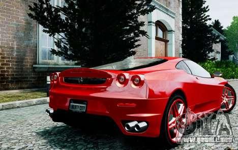 Ferrari F430 para GTA 4 Vista posterior izquierda
