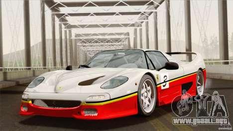 Ferrari F50 v1.0.0 Road Version para la vista superior GTA San Andreas