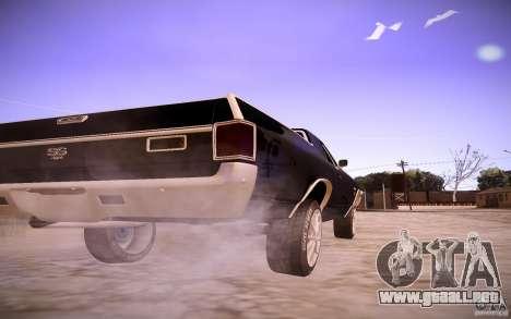 Chevrolet El Camino SS 1970 para GTA San Andreas vista hacia atrás