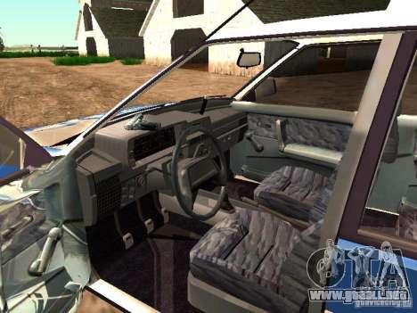 VAZ 2109 policía para visión interna GTA San Andreas