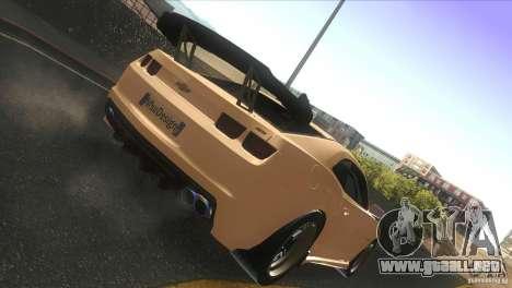 Chevrolet Camaro SS Dr Pepper Edition para GTA San Andreas vista hacia atrás