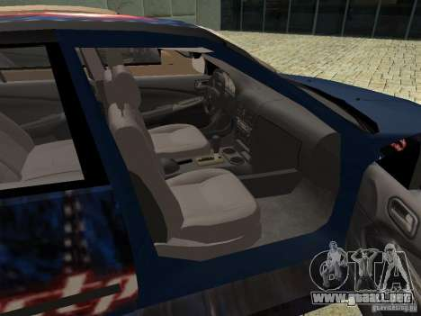 Nissan Sentra para GTA San Andreas vista hacia atrás