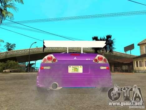 Mitsubishi Spider para GTA San Andreas vista posterior izquierda