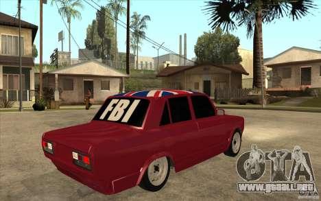 VAZ 2107 Hobo v. 2 para la visión correcta GTA San Andreas