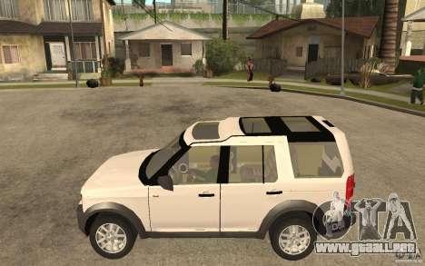 Land Rover Discovery 3 V8 para GTA San Andreas left
