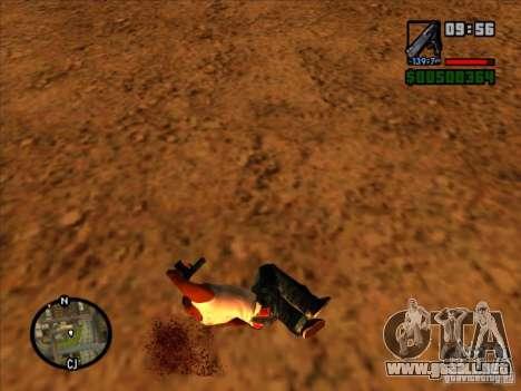 Basura de la explosión para GTA San Andreas quinta pantalla