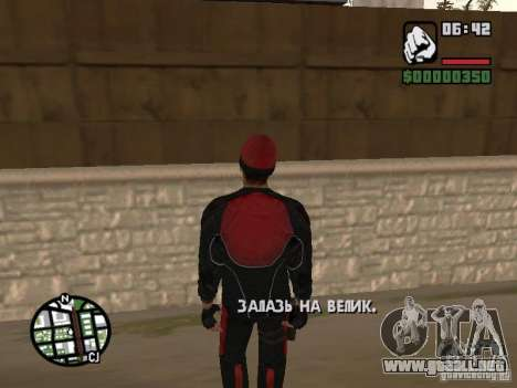 Skydiver para GTA San Andreas segunda pantalla