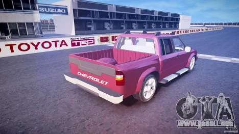 Chevrolet S10 para GTA 4 vista superior