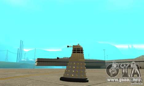 Dalek Doctor Who para GTA San Andreas left