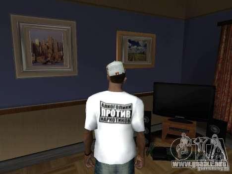 Camiseta con Homer para GTA San Andreas segunda pantalla