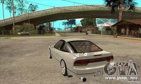 Nissan Silvia S14 1993 para GTA San Andreas vista posterior izquierda