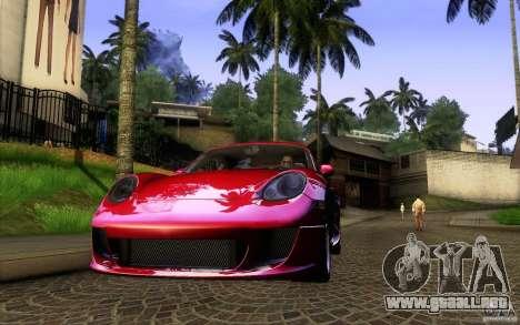 Ruf RK Coupe V1.0 2006 para la visión correcta GTA San Andreas