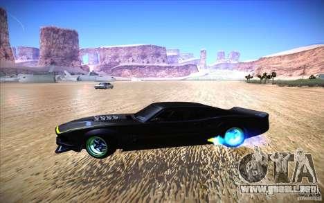 Ford Mustang RTR Drift para GTA San Andreas vista hacia atrás