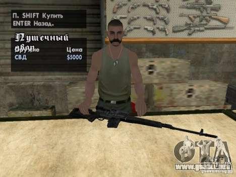 Armas Pak domésticos para GTA San Andreas twelth pantalla