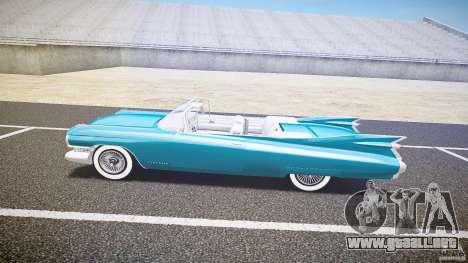 Cadillac Eldorado 1959 interior white para GTA 4 Vista posterior izquierda