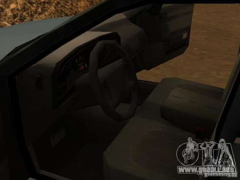 Mercury Sable GS 1989 para GTA San Andreas vista hacia atrás