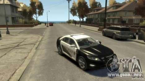 Ford Taurus Sheriff 2010 para GTA 4 visión correcta