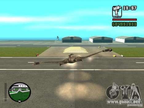Future Army Jet para la visión correcta GTA San Andreas