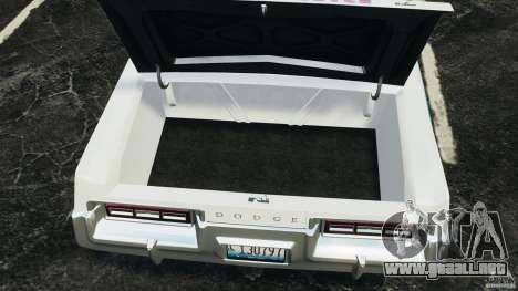 Dodge Monaco 1974 Police v1.0 [ELS] para GTA 4 vista interior