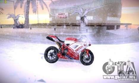 Ducati 1098 para vista lateral GTA San Andreas