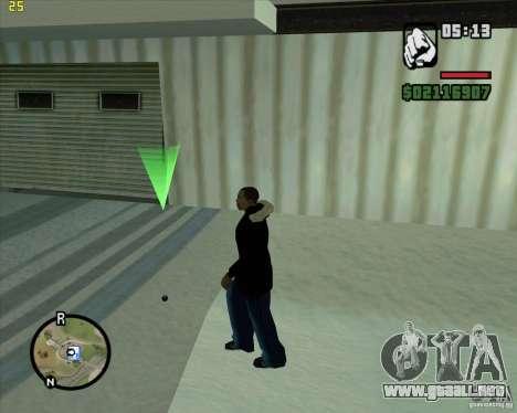 Lanzar una bola de nieve para GTA San Andreas segunda pantalla