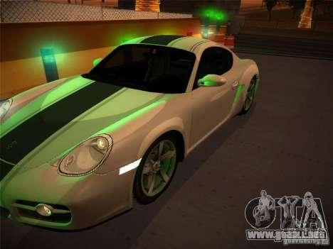 Porsche Cayman S Snow para la visión correcta GTA San Andreas
