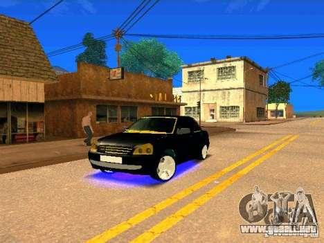 LADA Priora oro 2170 Edition para vista lateral GTA San Andreas