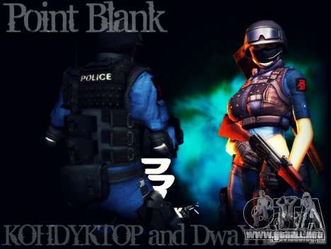 SWAT de quemarropa para GTA San Andreas segunda pantalla