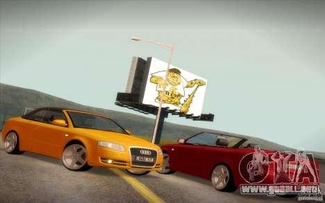 Audi A4 Cabrio para visión interna GTA San Andreas