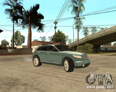 INFINITY FX45 para la vista superior GTA San Andreas