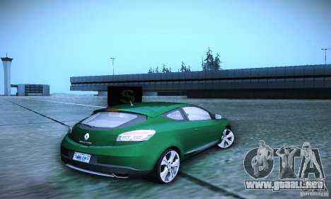 Renault Megane Coupe para GTA San Andreas vista posterior izquierda