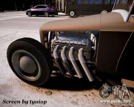 Roadster High Boy para GTA 4 Vista posterior izquierda