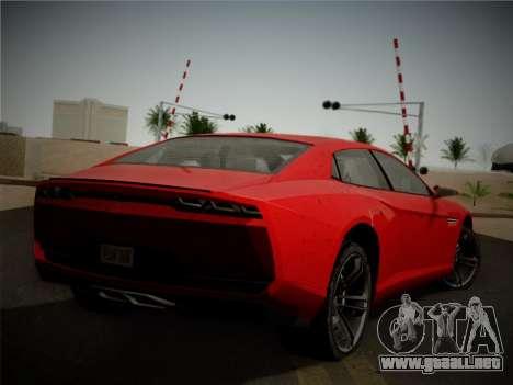 Lamborghini Estoque Concept 2008 para GTA San Andreas vista hacia atrás
