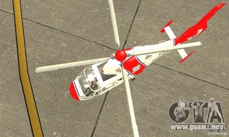 Guardacostas de Estados Unidos AS-365N para visión interna GTA San Andreas