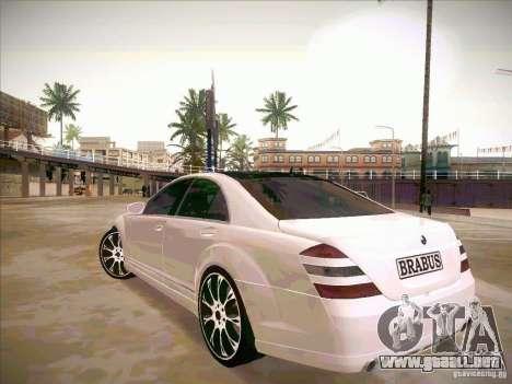 Mercedes-Benz S 500 Brabus Tuning para visión interna GTA San Andreas
