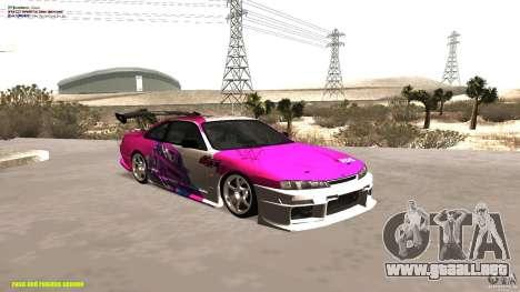 Nissan Silvia S14 kuoki RDS para visión interna GTA San Andreas