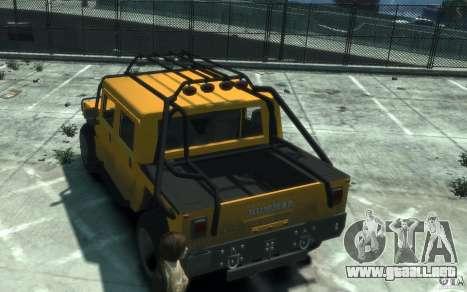 Hummer H1 4x4 Extras para GTA 4 visión correcta