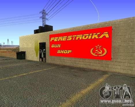 Almacena la reestructuración para GTA San Andreas segunda pantalla