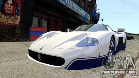 Maserati MC12 para GTA 4 Vista posterior izquierda
