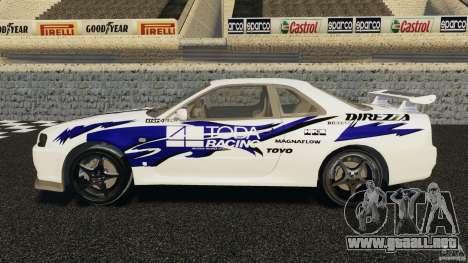 Nissan Skyline R-34 Atomic para GTA 4 left