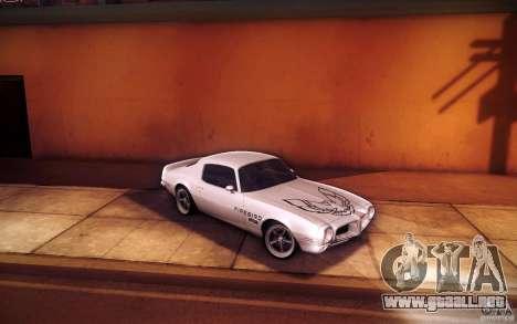 Pontiac Firebird 1970 para la vista superior GTA San Andreas