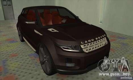 Land Rover LRX para GTA San Andreas left