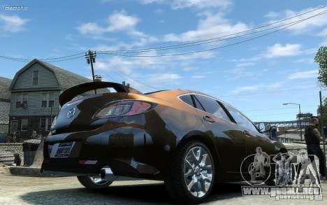 Mazda 6 2008 para GTA 4 vista hacia atrás
