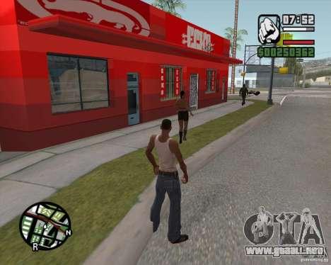 Ecko tienda para GTA San Andreas tercera pantalla