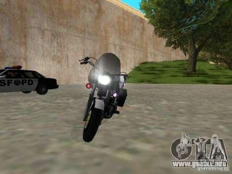 Harley Davidson Dyna Defender para GTA San Andreas vista posterior izquierda