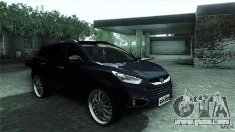 Hyundai iX35 Edit RC3D para GTA San Andreas vista hacia atrás
